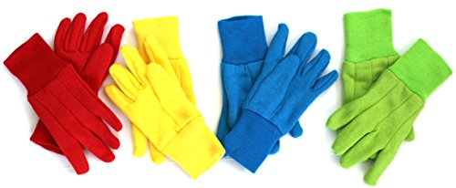 KIDS GLOVES for Winter, (4-Pack) - Ages 3+ 'BRIGHT' COLORS - Pack will include all 4 Colors. a Different Color Everyday!