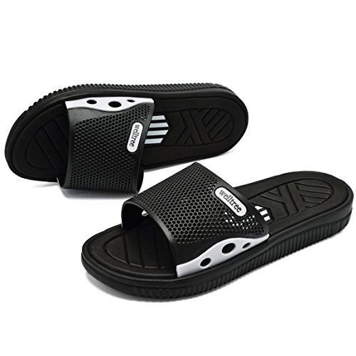 welltree Men's Slide Slipper Shower/Pool / Beach/Garden Quick Drying Sandal 7 D(M) US Men / 40 Black by welltree (Image #6)