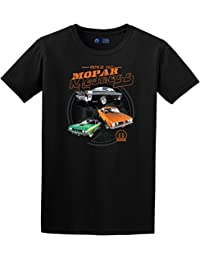 Mens Mopar Maddness T-Shirt with American Flag Sticker