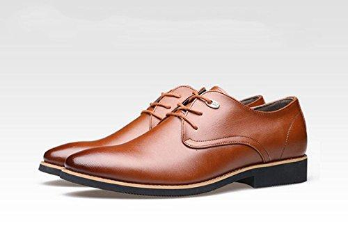 GRRONG Vestimenta Formal Zapatos De Cuero De Los Hombres De Negocios Negro Marrón Brown