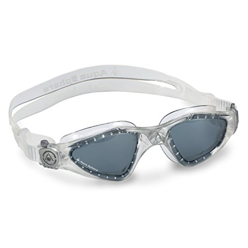Aqua Sphere Kayenne Goggle With Smoke Lens, Clear/Silver, - In Man Goggles