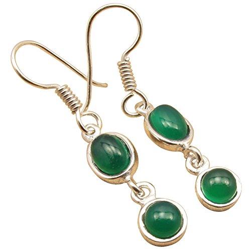 Green Onyx Earrings (Little Earrings 1.6
