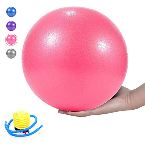 MICOK Pilates Ball, Barre Ball, Mini Exercise Ball, 9 Inch-Small Bender Ball for Pilates, Yoga, Core Training and Physical Therapy, Anti Burst & Slip Resistant Balance Ball with Quick Foot Pump