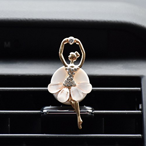 Ballet girl Car Bling Decoration Bling Car Interior Accessories Air Vent Sparkle Rhinestone Diamond Clip (Resin sheet) ()