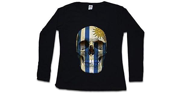 ... Woman T-Shirt DE Manga Larga - Bandera cráneo Schädel Banner Fahne Mujer Woman T-Shirt DE Manga Larga -Tamaños S - 5XL: Amazon.es: Ropa y accesorios