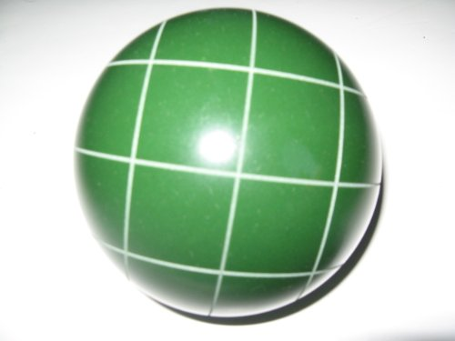 Epco Replacement Bocce Ball with Criss Crossed stripes - single green 107mm by Epco