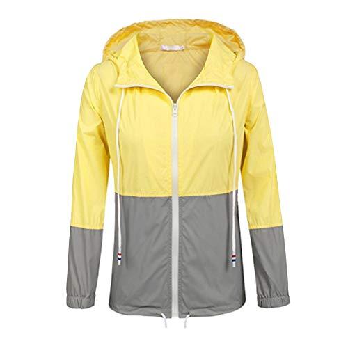 Trench Cappuccio Active Raincoats Antipioggia Giallo Fangcheng Outdoor Leggera grigio Con Giacca Donna Impermeabile 4pgAO