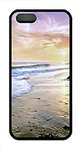 iPhone 5S Case, iPhone 5S Cases -Zuma Beach California TPU Rubber Soft Case Back Cover for iPhone 5/5S ¨CBlack