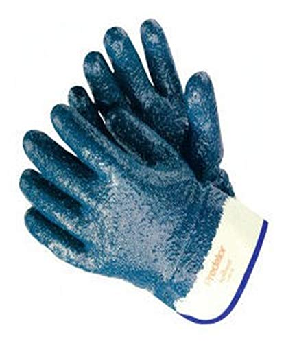 (MCR Safety 9761R-L Predator Rough Finish Nitrile Coated Glove, Large, Blue (Pack of)