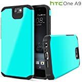 HTC One A9 Case, Celljoy [Liquid Armor] (Turquoise Teal Blue Green) HTC One Aero Case, Slim Fit Armor Dual Layer Protective [[Shockproof]] Hybrid Reinforced Bumper {Impact Resistant} Thin Hard Cover