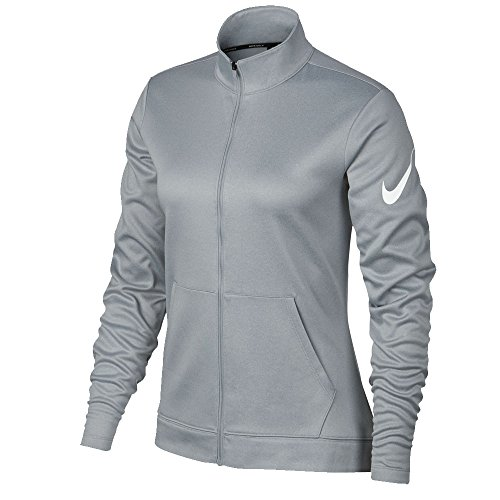 Nike Therma Fit Full Zip Fleece Golf Jacket 2017 Women Wolf Gray/Heather/White Large (Zip Fleece Jacket Full Therma)