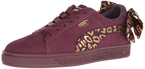 PUMA Baby Suede Bow Kids Sneaker fig Team Gold, 9 M US Toddler