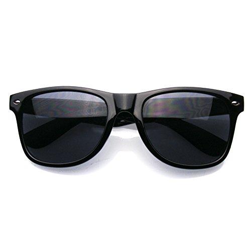 Noir De Lunettes Emblem Style Eyewear Soleil Rimmed Corne Prime De axqBfzq