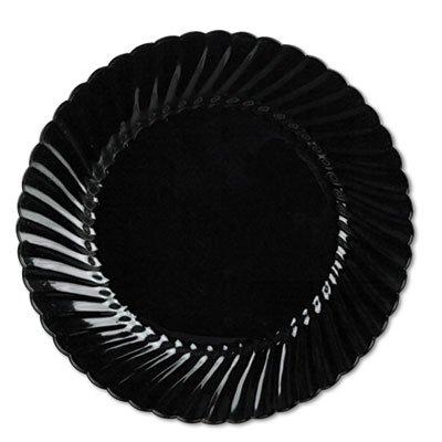 Classicware Plates, Plastic, 10.25 in, Black, 144/case, Sold as 1 Carton by WNA