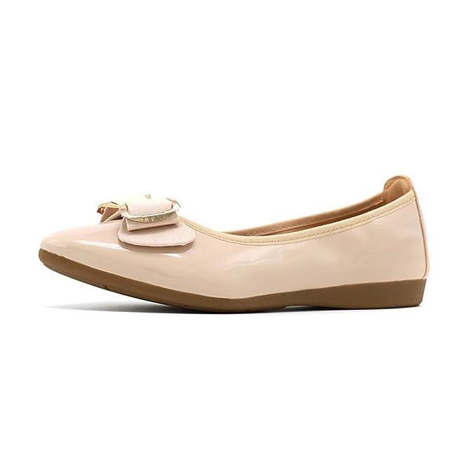 HLG Scarpe basse da donna slip on shoes mocassini da balletto in vernice  scarpe casual da donna b7da480bedb