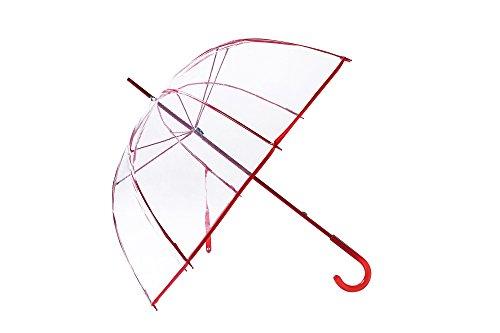 FiveMax 50 Inch Clear Bubble Umbrella (Red)
