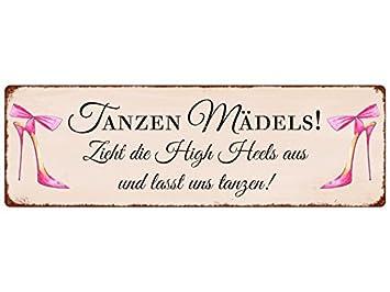 Interluxe Metallschild Blech Turschild Tanzen Madels Hochzeit