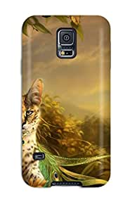 John B Coles's Shop Best Protective Tpu Case With Fashion Design For Galaxy S5 (the Lady And The Cat)