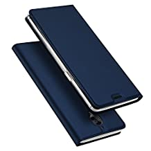 iKuboo Oneplus 3/3T Case, iKuboo Luxury Slim PU Leather Flip Protective Magnetic Cover Case for Oneplus 3/3T with Card Slot and Stand Function- Blue