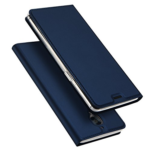 Wallet Flip Leather Case Cover For OnePlus 3T / OnePlus 3 (Blue) - 8