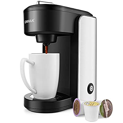 CHULUX Single Serve Coffee Maker,Stainless Steel Coffee Brewer with Gradient Water Reservoir,Auto Shut Off,1000 Watts