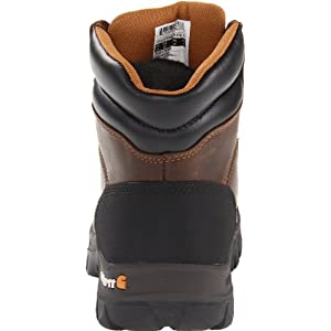 "Carhartt Men's 6"" Rugged Flex Waterproof Soft Toe Work Boot CMF6066,Brown Oil Tanned Leather,10.5 M US"