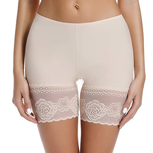 Slip Shorts for Under Dresses Women Seamless Boyshorts Slimming Anti Chafing Thigh Underwear Beige