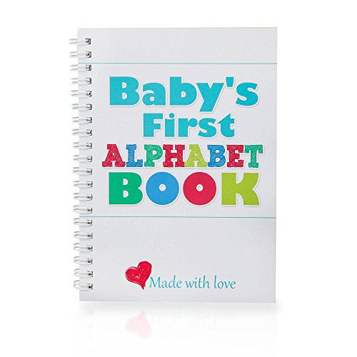 Baby Alphabet Book - DIY - Fun Baby Shower Drawing Game. Quality Paper Suitable for Pencil, Pen, Markers. Newborn Gift. Great Present for Pregnant Mom and Dad. Unisex in Pastel Colors 5 x 7 Inches by Gr8Baby