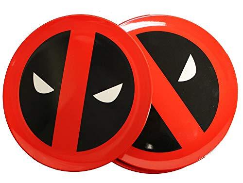 Deadpool Round Icons Plate Set, Melamine, Multi-Colour, 21 x 21 x 2 cm -