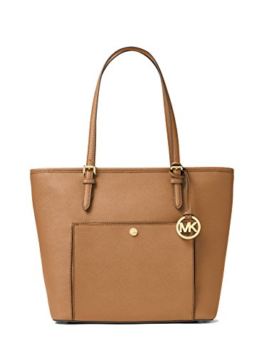 Big Leather Tote - MICHAEL MICHAEL KORS Jet Set Travel Large Leather Tote, Acorn
