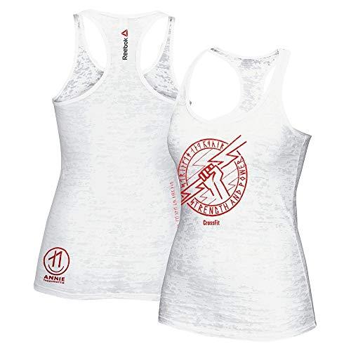 (Reebok Crossfit Strength & Power Women's White Burnout Tank Top)