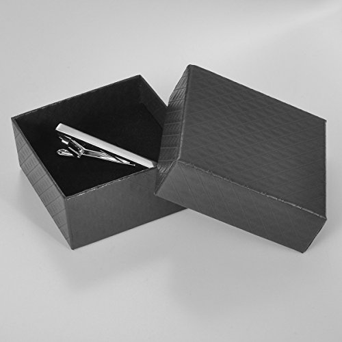 Housweety Mens Tie Bar Pinch Clip Simply Style (Red) Length:60mm(2 3/8'') by Housweety (Image #3)
