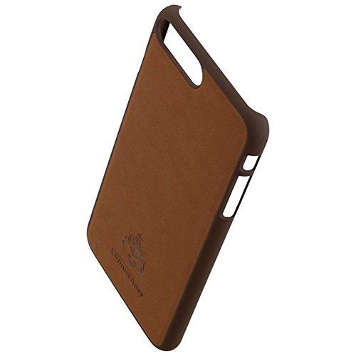COMMANDER Tasche BOOK CASE Vintage Brown 2in1 mit Back Cover für Apple iPhone 7 Plus inkl. Reinigungstuch iMoBi