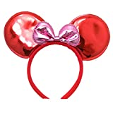 steelers game Mickey Mouse Minnie Mouse Ears Headband : M5 (GT-Red)