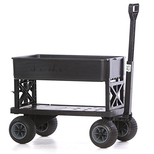 Cheap Mighty Max Cart Plus One All-Purpose Utility and Garden Cart with Black Tub and with All-Terrain Weatherproof Wheels