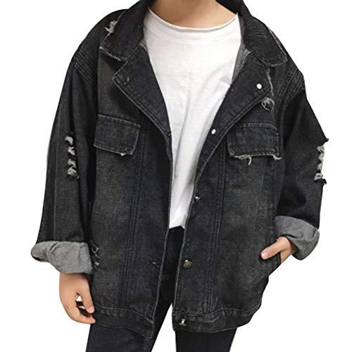 Di Cihui Retro Jeans Denim Cappotto Nero Grandi Outwear Giacca Donna nvrWxn