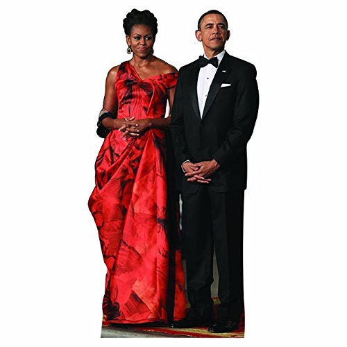 Wet Paint Printing + Design H25100 Michelle and Barack Obama Cardboard Cutout