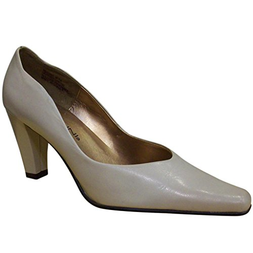 Bellini Leather Pumps (Bellini Women's Rosa00 Dove Chunky Heel Leather)