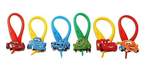 AVIRGO 6 pcs Colorful Soft Zipper Pull Charms for Backpack Bag Pendant Jackett Set # 23-4