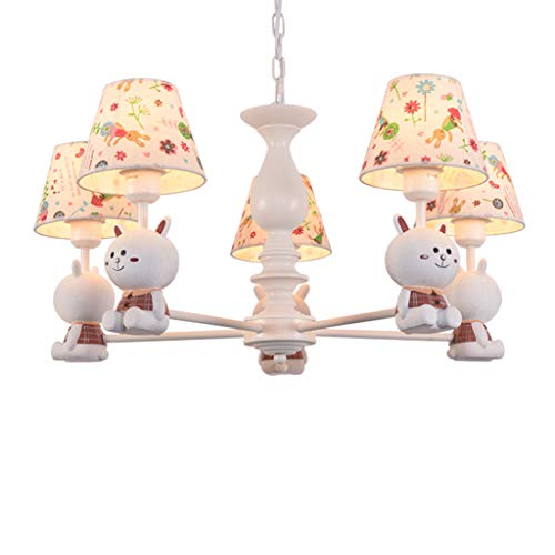 Pendant Lights Children's Room lamp Baby Room Bunny Lamps Boy Girl Toy lamp Princess Baby Bedroom Chandelier Bedroom Chandelier Living Room Chandelier (Color : White, Size : 72cm35cm)