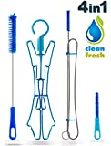 Hydration Water Bladder Cleaning Kit 4in1   NO MORE DIRT & MOLD   Perfect Brushes for Cleaning Your Water Reservoir   Hydration Pack Bladder Cleaner   Flexible Brush Big Brush Small Brash Drying Rack