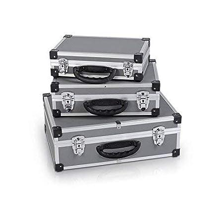 gris Lot de 3 verrous en aluminium avec 2 verrous dans chaque valise couleur argent/é