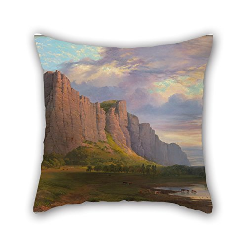 Slimmingpiggy The Oil Painting Nicholas Chevalier - Mount Arapiles And The Mitre Rock Cushion Covers Of ,16 X 16 Inches / 40 By 40 Cm Decoration,gift For Girls,teens,monther,kitchen,kids (Punk Fancy Dress Ideas)