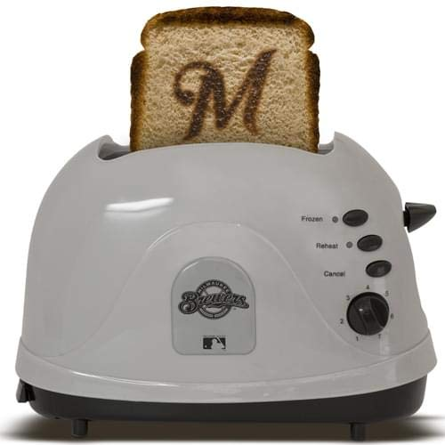MLB Milwaukee Brewers Protoast Team Logo Toaster by Pangea Brands