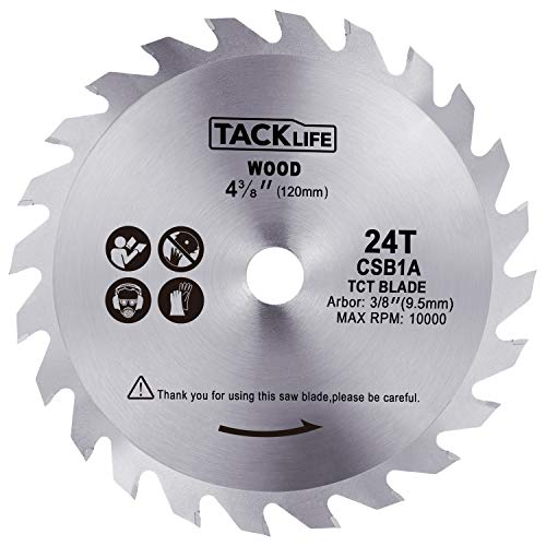 TACKLIFE 4-3/4-inch (120mm) 24T Circular Saw Blade, Carbide Flooring Blade, Finishing Saw Blade with 3/8