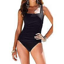 Timemory Womens Sexy Tummy Control Monikini Plus Swimwear One Piece Swimsuits