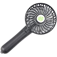 Momoday Handheld fan Palm-Leaf Fan Portable Rechargeable Air Cooling Handy Personal Portable Fans for Indoor Outdoor Activities Home Office and Travel (Black)