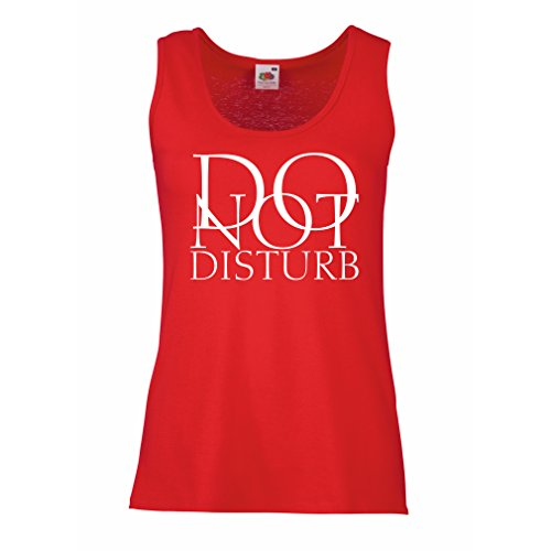 Camisetas sin Mangas para Mujer No molestar - citas divertidas - regalo Rojo Blanco