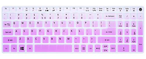 Keyboard Cover Compatible Acer Aspire E15 E5-573G E5-575 E5-576G ES15 ES1-572|Aspire E17 E5-772G|Aspire V15 VN7-592G/V17 VN7-792G/F15 F5-571 F5-573G|Aspire A315 A515 A715 Keyboard Skin, Gradual Purple (Keyboard Skin Acer Aspire)