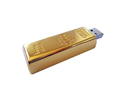 Gold Bar 2.0 USB Flash Drive 16 GB (Pack of 5) from Generic